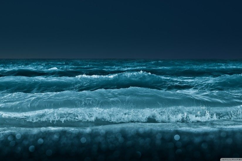 Beach wallpapers Night Sea Wallpaper