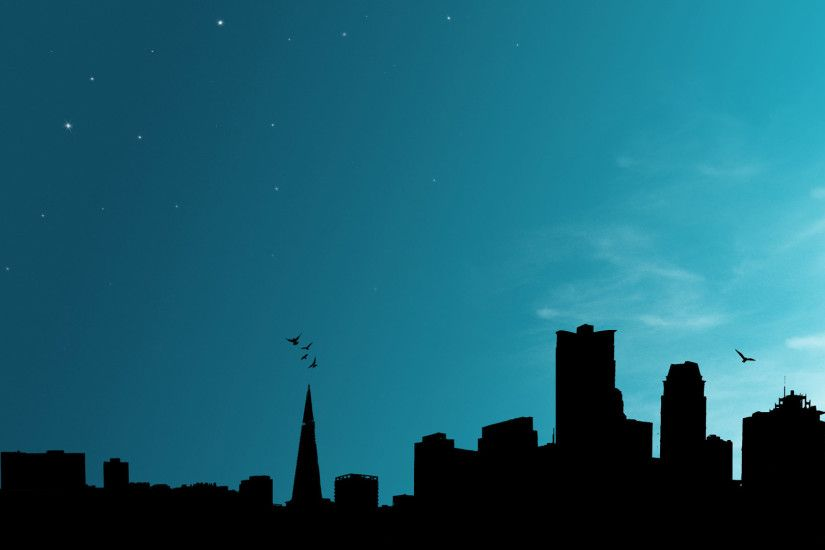 Cool Background Dark City Silhouette