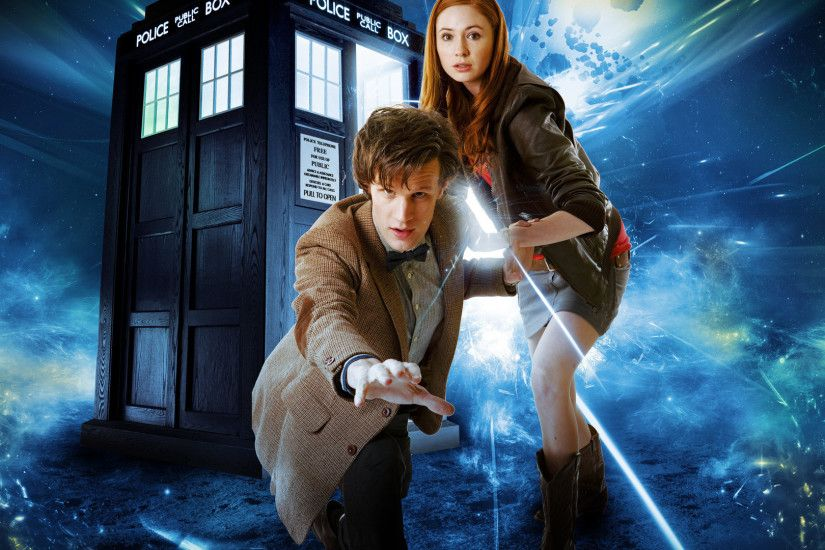 TV Show - Doctor Who The Doctor Amy Pond Tardis Wallpaper