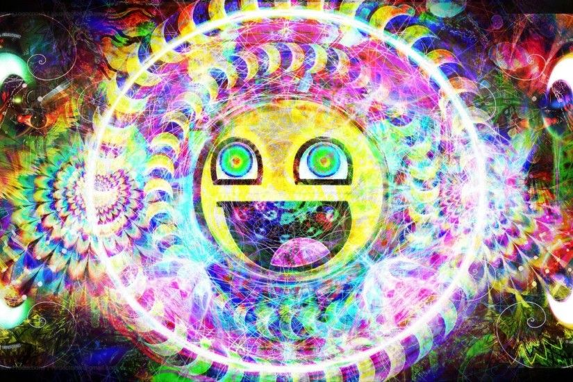 Trippy Psychedelic Awesome Smiley HD Wallpaper | 1920x1080 | ID:49066