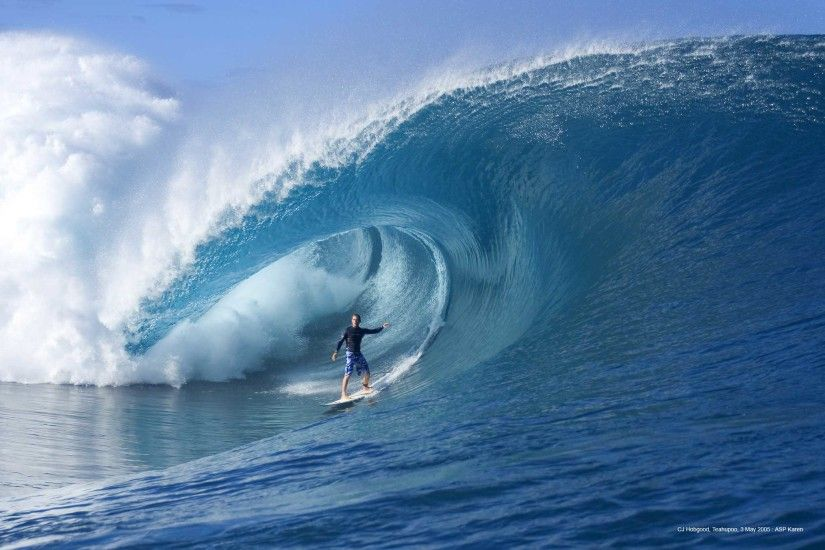 surfersvillage.com - CJ Hobgood catches a giant paddle-in wave at Teahupoo  - Surfing News, Surfing Contest, All the surf in one website