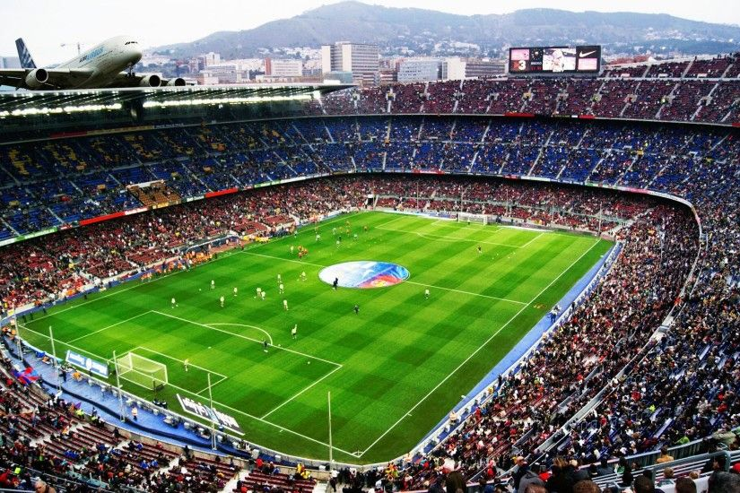 Camp Nou Stadium FC Barcelona Football Wicked Wallpaper FREE