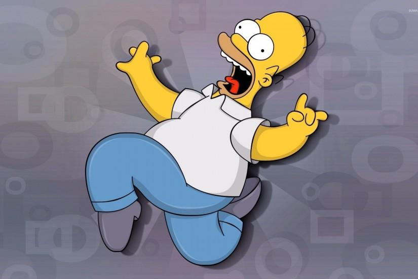 Scared Homer Simpson - The Simpsons wallpaper 1920x1200 jpg