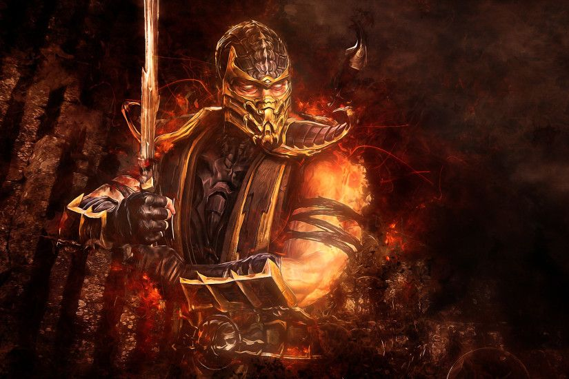 mortal-kombat-scorpion-sword-abstraction-video-game-wallpaper-