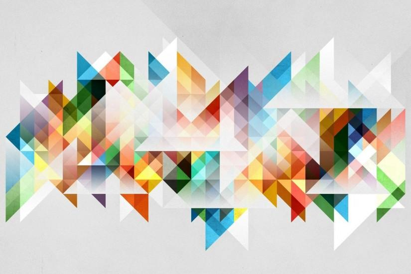 Pastel Triangles Forming A Shape Vector Hd Wallpaper X