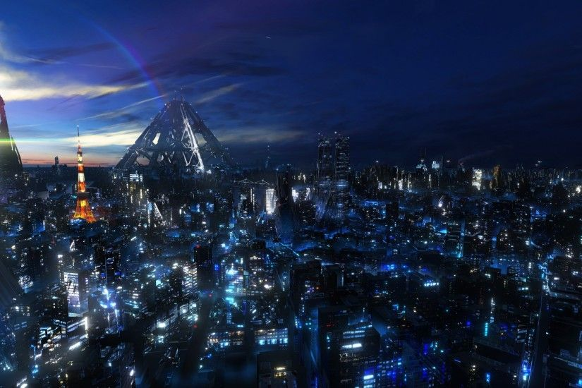 city landscapes pictures | Futuristic Tokyo Bay - 3D, Scenery/Landscapes,  wallpaperCoolvibe .