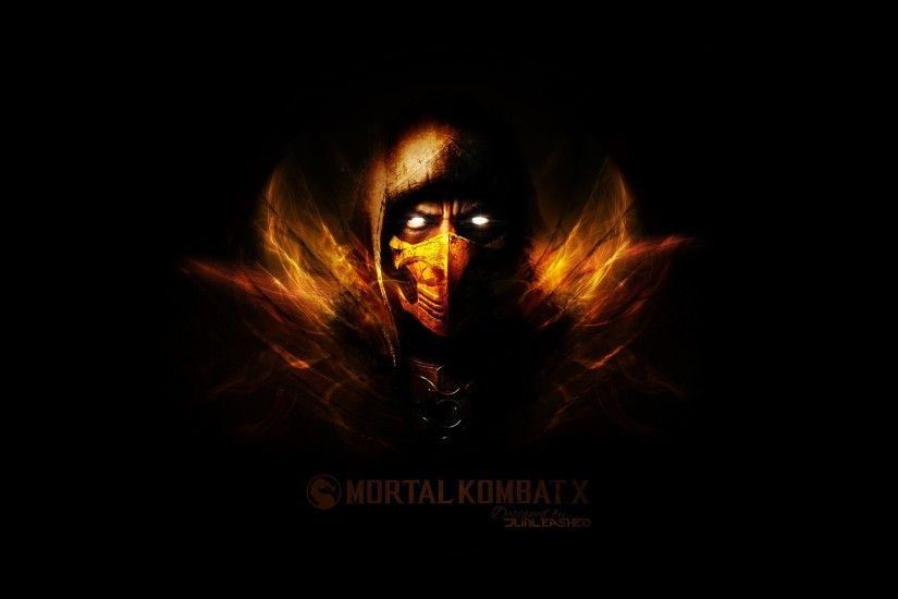 video Games, Mortal Kombat X, Mortal Kombat, Simple Background, Scorpion  (character) Wallpapers HD / Desktop and Mobile Backgrounds