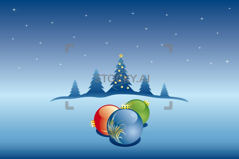 Image of vector abstract christmas background