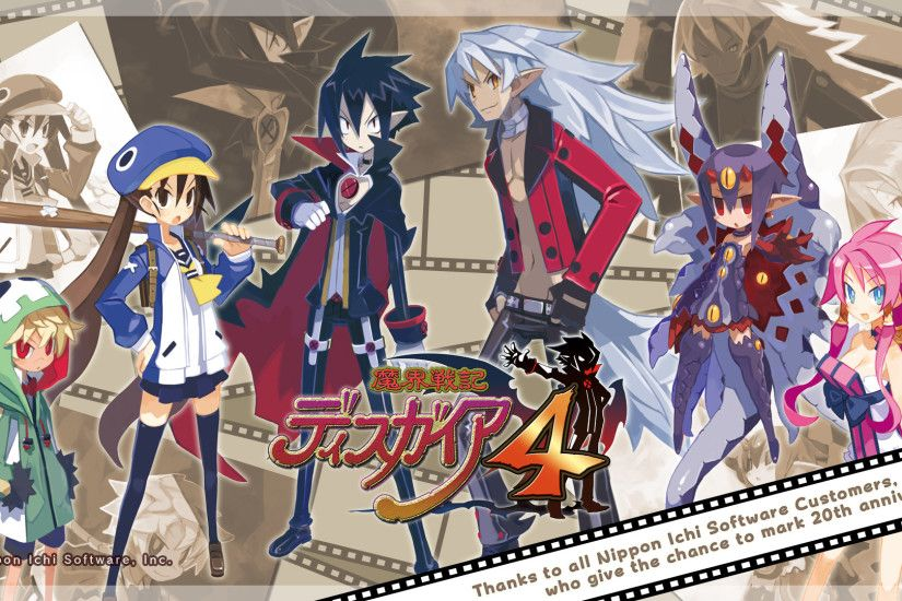 Celebrate Nippon Ichi's 20 Years of JRPGs with Three Special Disgaea  Wallpapers