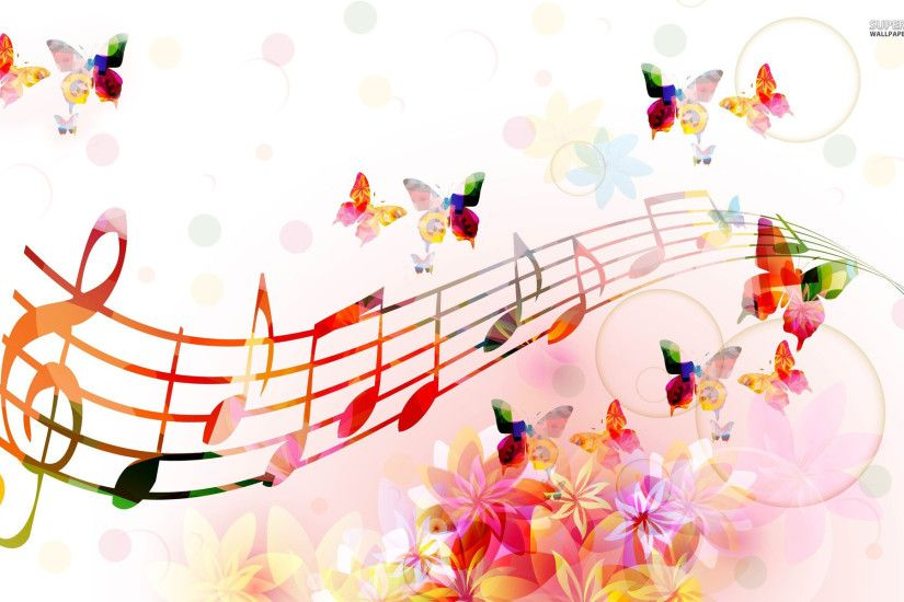 music wallpaper butterfly