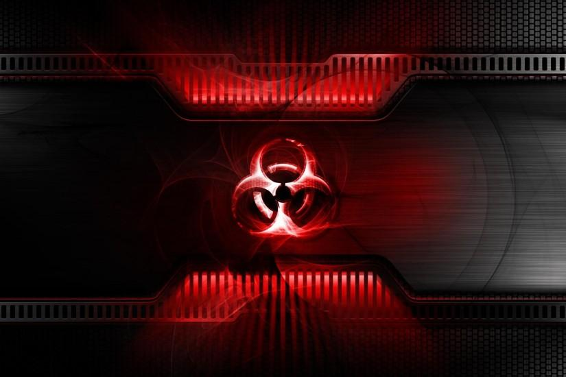 Logos For > Zombie Biohazard Symbol Wallpaper