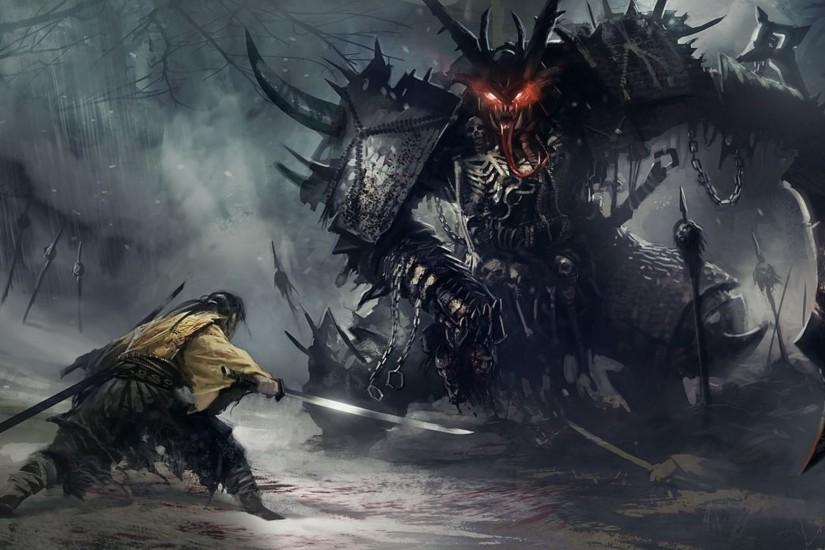 Download Samurai Demon Wallpaper