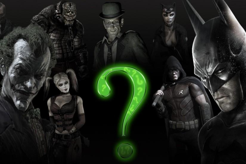 Batman Joker Harley Quinn The Riddler Killer Croc Arkham City Catwoman Two  Face Video Games Wallpaper