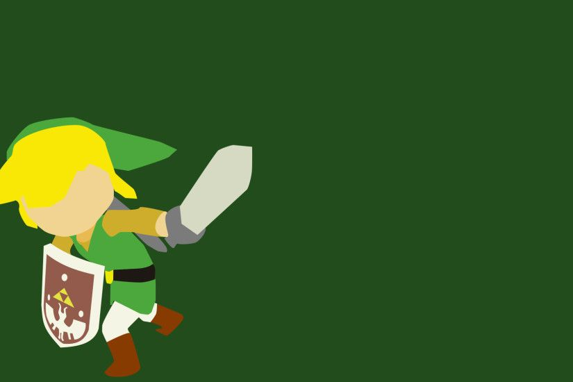 I posted a Minimalist Link Wallpaper here last night. A friend asked me to  do a Wind Waker Link, so I thought I'd share that as well.