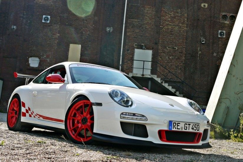Preview wallpaper porsche, gt3, rs, white 3840x2160