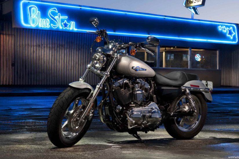 Harley-Davidson Sportster Iron 883 motorcycle wallpapers