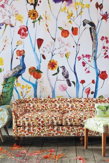 Slide View: 1: Garden Chinoiserie Mural