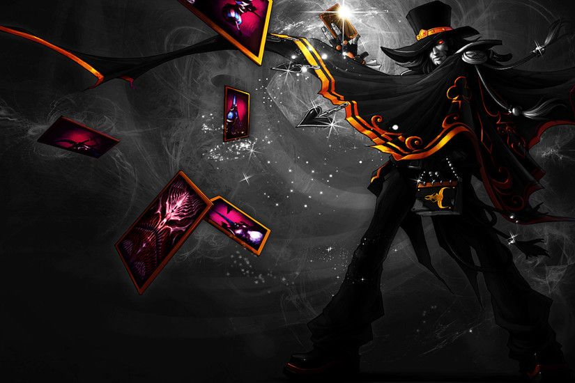 1920x1080 League of legends Twisted Fate Magnificent Black and white