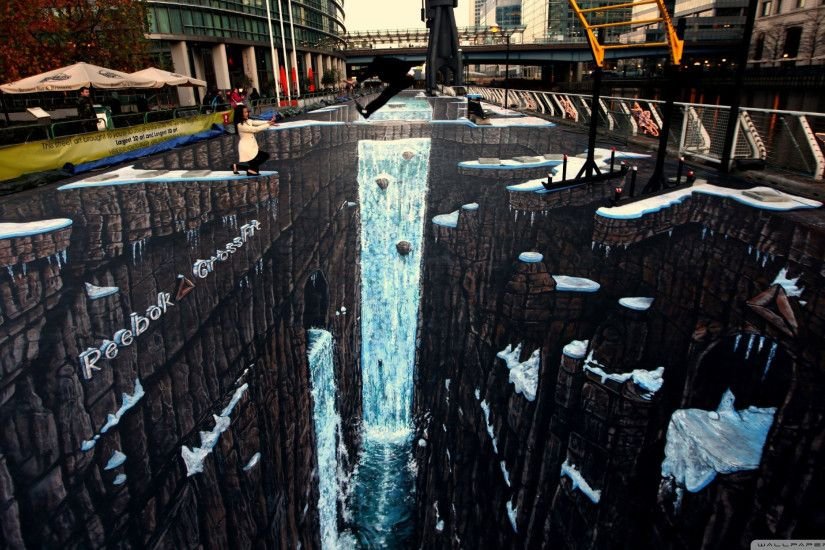 3d street painting wallpaper