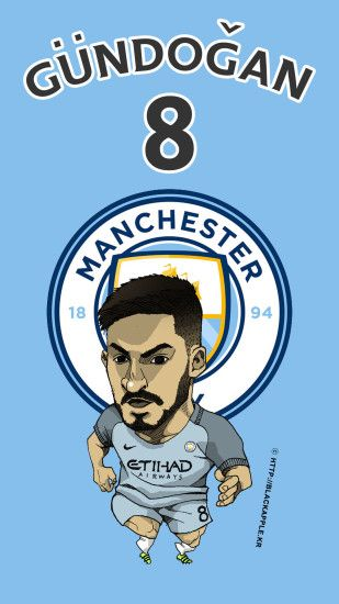 Manchester City No.8 Ilkay Gundogan ...