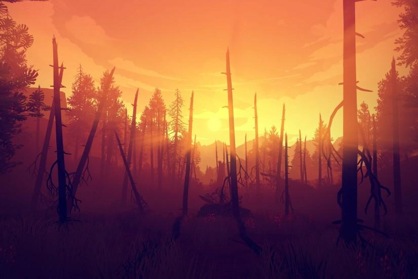 new firewatch wallpaper 3840x2160