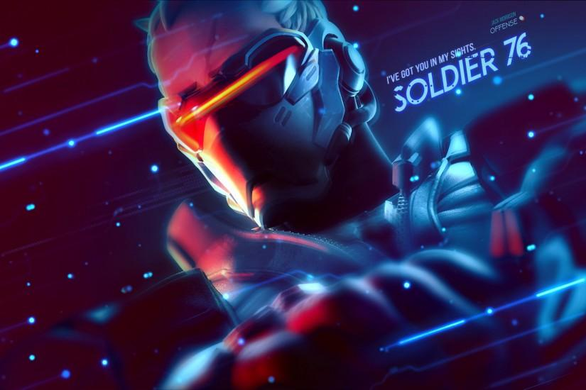 ... Soldier 76 Wallpaper - Overwatch by Gramcyyy