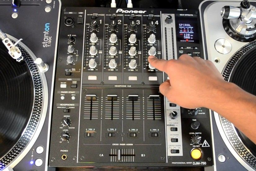 Pioneer DJM-750 Four-Channel Professional DJ Mixer HD-Video Review - YouTube