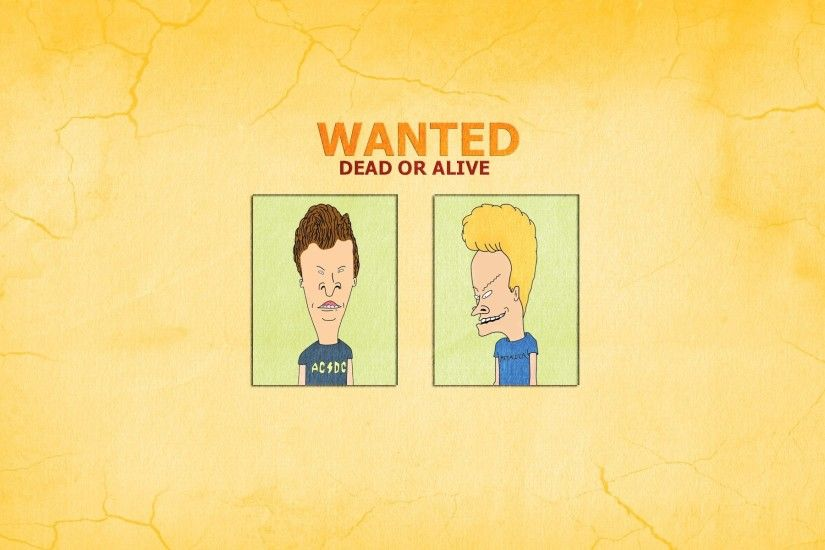 beavis and butthead beavis and butt-head wanted dead or alive inscription  funny minimalism
