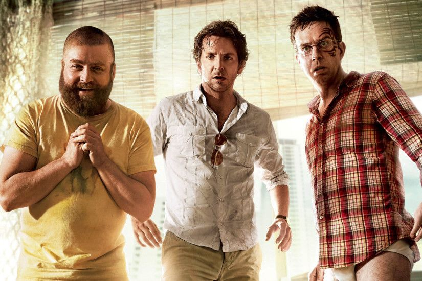 Movie - The Hangover Part II Bradley Cooper Zach Galifianakis Ed Helms  Wallpaper