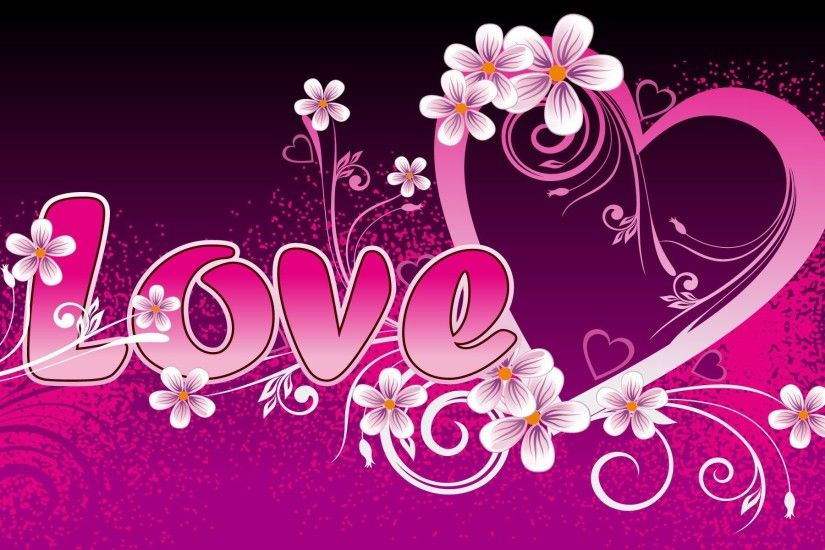 pink love heart | HD Wallpapers