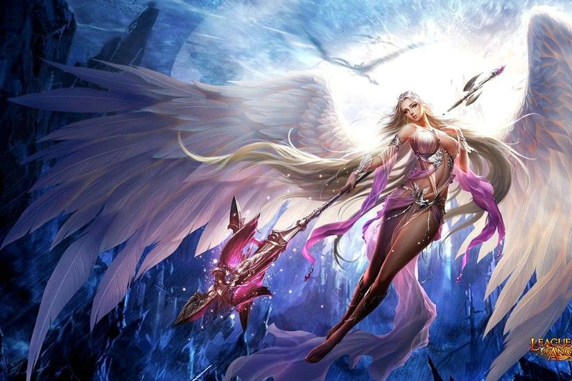 League-of-angels Fantasy Angel Warrior League Angels Game Loa (22) Wallpaper  At Fantasy Wallpapers
