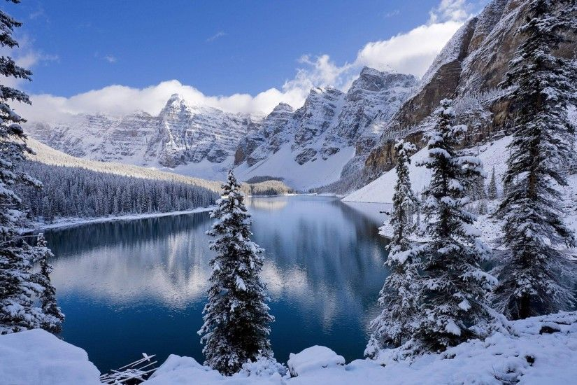 nature, Winter, Snow, Moraine Lake Wallpapers HD / Desktop and Mobile  Backgrounds