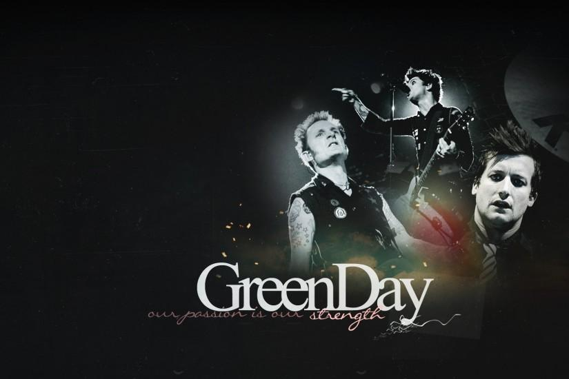 Preview wallpaper green day, band, letters, concert, faces 1920x1080
