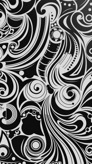 Preview wallpaper black, white, pattern, shape, patterns 1080x1920
