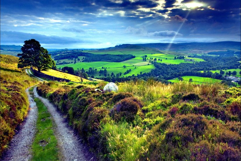 Nature Landscapes other countryside Path wallpapers