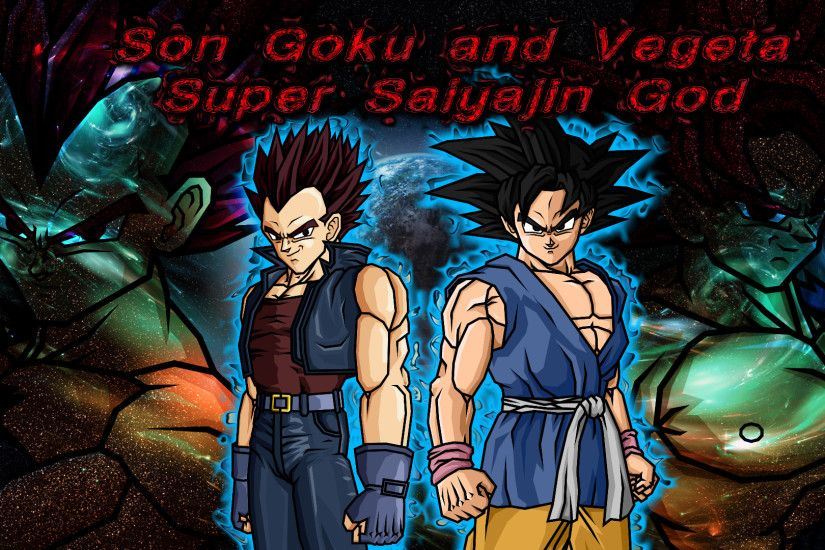 ... Wallpaper Nr 4 Dragonball Son Goku and Vegeta SSJG by WallpaperZero