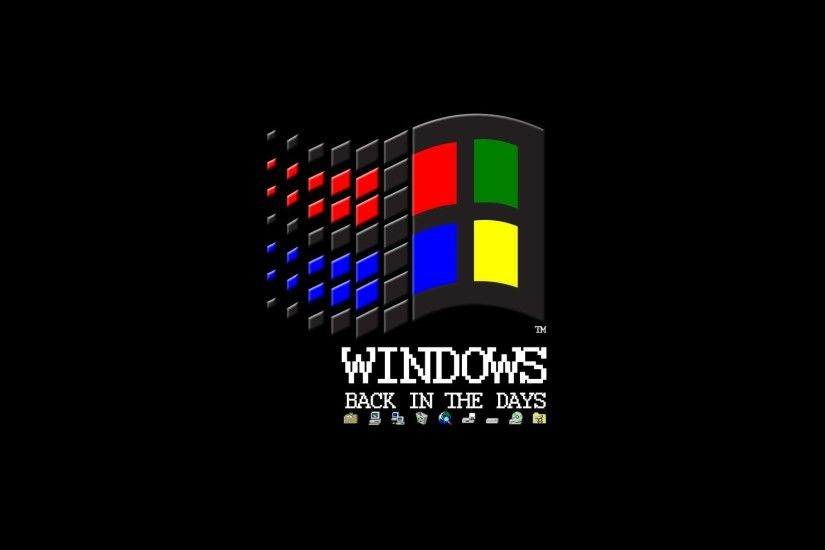 Microsoft Windows, Vintage, Logo, Black Background, Floppy Disk, MS DOS,  Internet Wallpapers HD / Desktop and Mobile Backgrounds