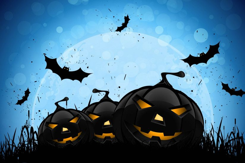 halloween wallpapers blue background
