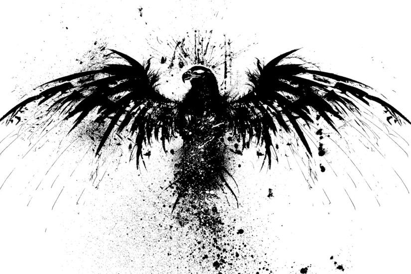 splattered+ink+bird | Original Resolution: 1920x1200