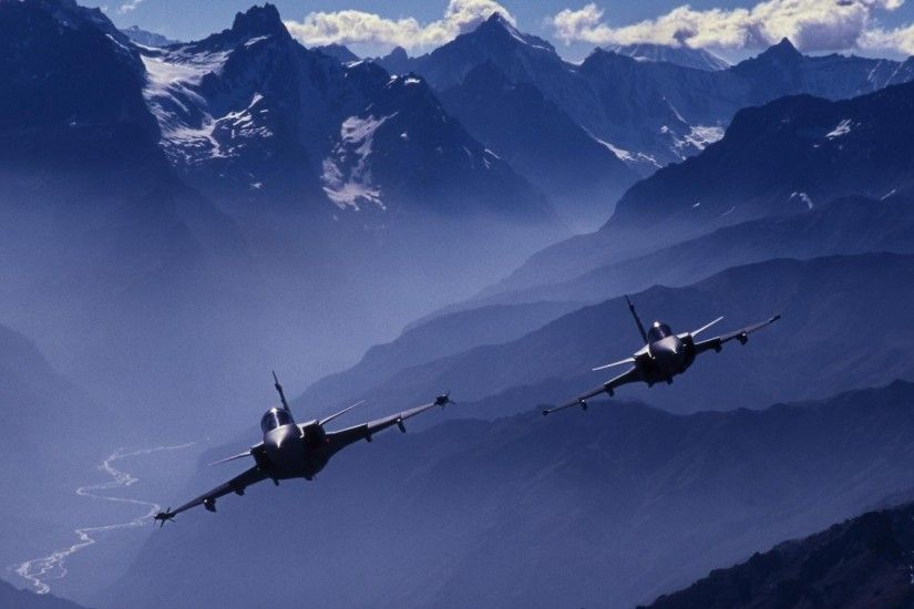Dassault Rafale's In The French Alps