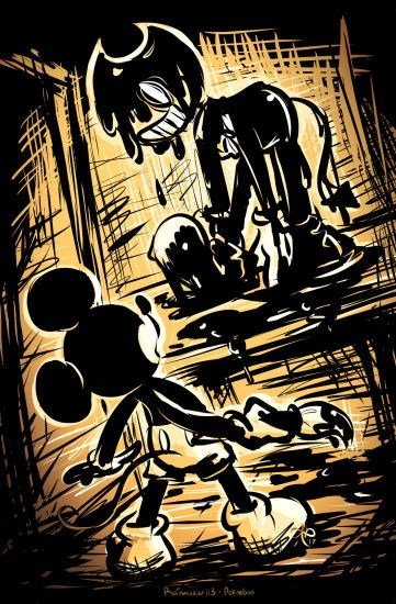 Bendy and the ink machine meets Epic Mickey