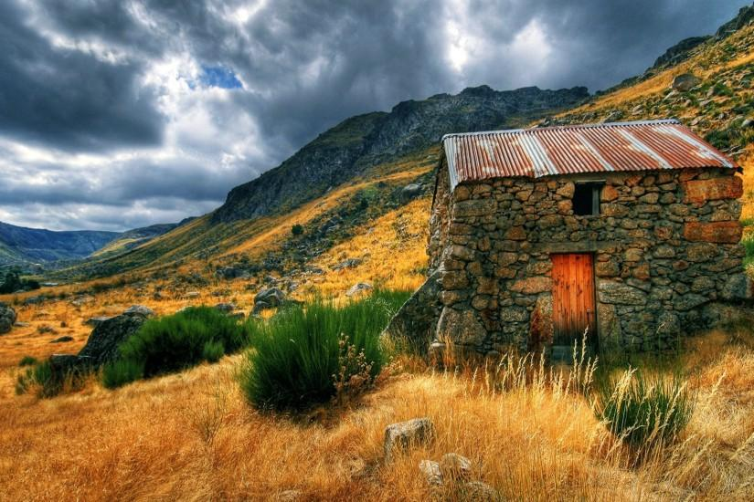 Nature House Countryside Hut Landscape rustic wallpaper | 3840x2160 |  720626 | WallpaperUP