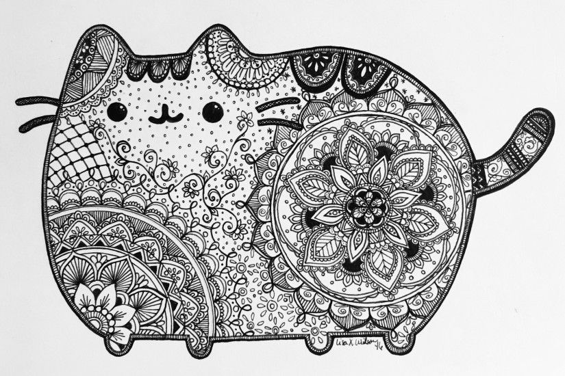 Pusheen Inspired art