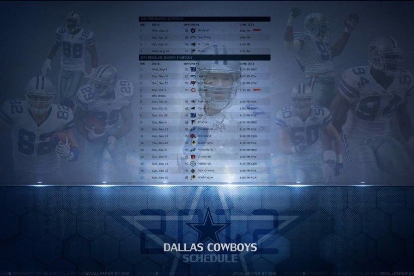 Dallas Cowboys Schedule Wallpapers (17 Wallpapers)