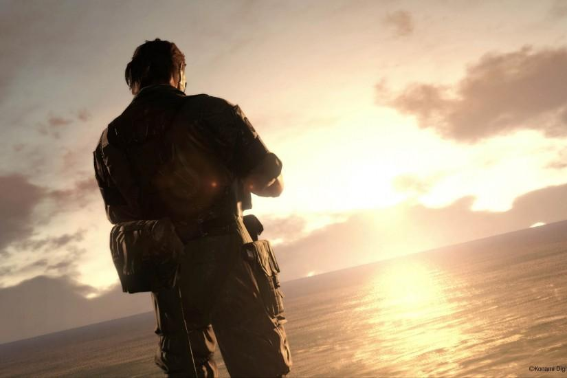 Big Boss at Sunrise - Metal Gear Solid V: The Phantom Pain 1920x1080  wallpaper