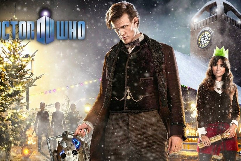 Doctor Who snowman Matt Smith Jenna-Louise Coleman wallpaper .