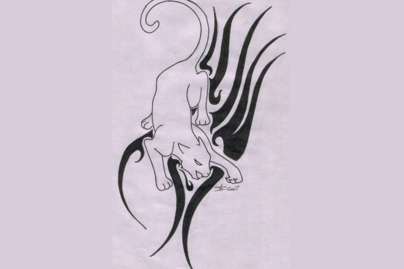 free designs panther on tribal base tattoo wallpaper tattoo design .