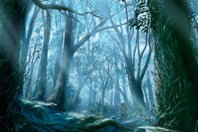 Anime Forest Wallpaper 1920x1080 Anime, Forest