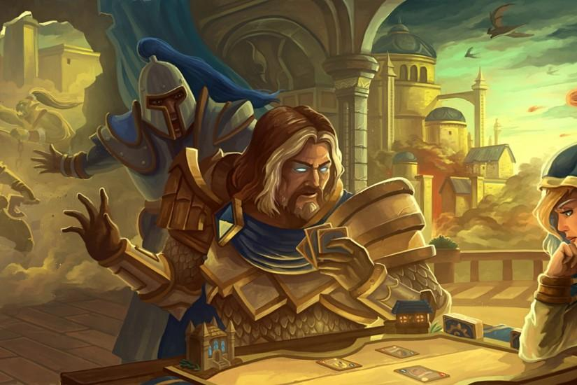 2560x1600 Wallpaper hearthstone, orc, jaina proudmoore, paladin