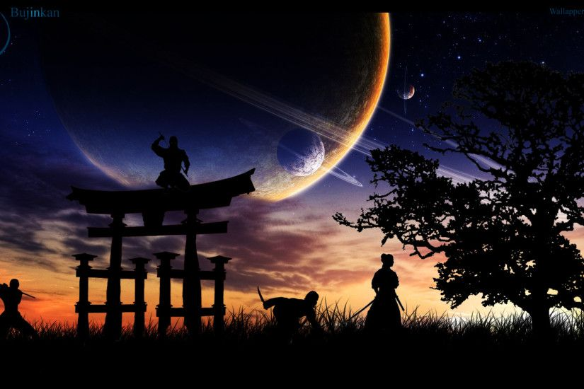 Artistic - Ninja Tree Martial Arts Asian Japanese Japan Sky Planet Space  Sunrise Wallpaper